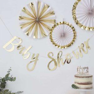 Babyshower slinger feestdecoratie fotobooth