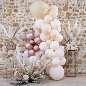 Ballonnenboog bruiloft backdrop fotobooth