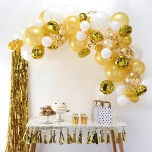 Ballonnenboog kit zelf maken goud wit