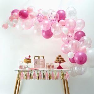 ballonnenboog roze diy bruiloft jubileumfeest verjaardag