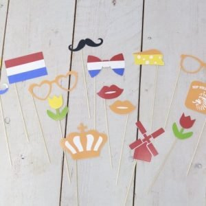 Fotobooth props koningdag foto accessoires