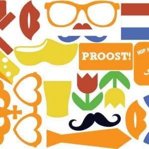 Oranje foto props Holland thema