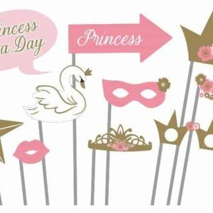 photo booth props prinsessenfeestje fotobooth