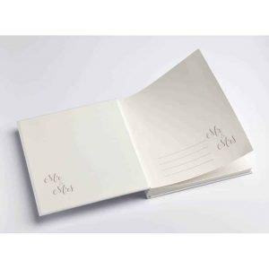 Receptieboek Mr en Mrs bruiloft