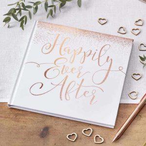 Gastenboek bruiloft Happily Ever After voor bij je photobooth
