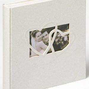 Gastenboek bruiloft wit met hartje voorzijde
