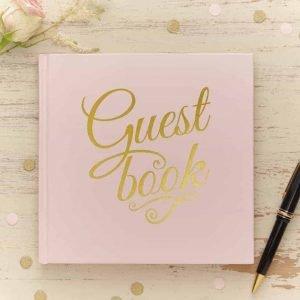 Gastenboek roze goud photobooth