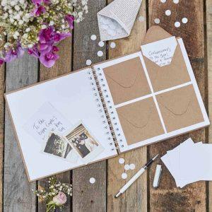 Gastenboek voor bij je photobooth met envelopjes
