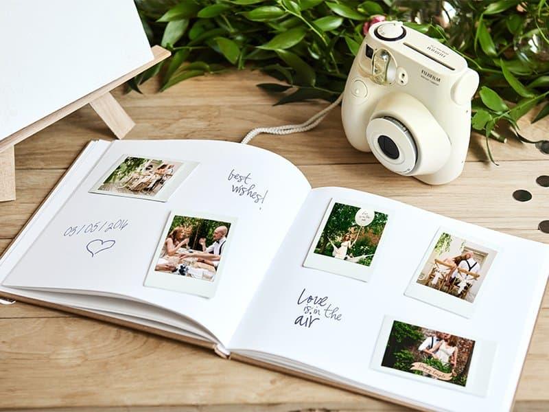 Gastenboek bruiloft receptieboek trouwen kraft botanical