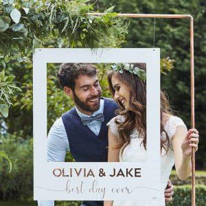 fotoframe bruiloft polaroidbooth gepersonaliseerd