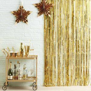 gouden linten achterwand metallic fotobooth polaroid
