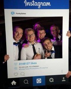 Instagram social media frame