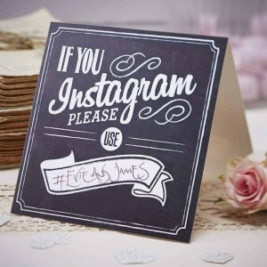 Instagram sign bruiloft