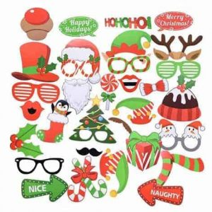 Kerst photo booth props