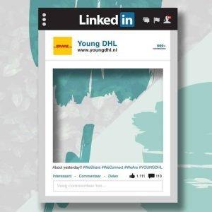 Linkedin frame social media