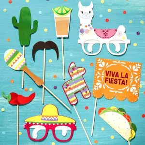 Photo booth props Mexico thema