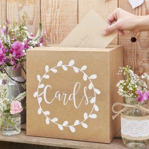 Originele enveloppendoos bruiloft goedkope kaartendoos huwelijk