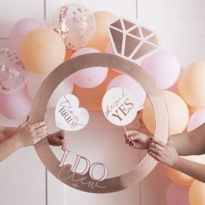 photobooth fotoframe vrijgezellenfeest bruiloft rosegoud