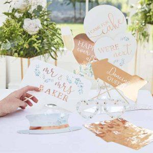 Photobooth props bruiloft zelf personaliseren