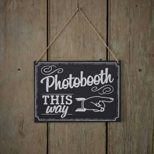 Photobooth kalk sign