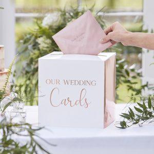 Trouwkaarten box cadeaukaarten koper