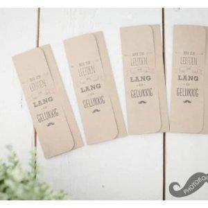 mapjes voor fotobooth op bruiloft