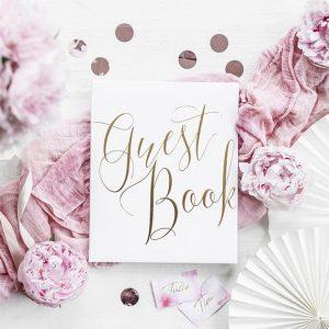huwelijk gastenboek wit gouden letters fotobooth polaroid