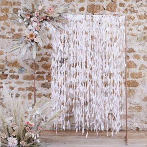 photobooth backdrop roze bladeren linten