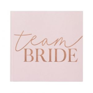 Vrijgezellenfeest gastenboek roze bride to be